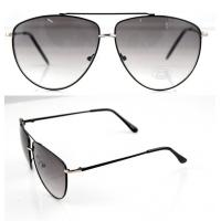 Cheap Modern Men and Lady Full Frame Sunglasses With White Metal Frame for sale