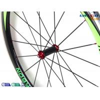 Cheap 50mm Clincher Bicycle Aluminum Road Bike Wheels With Mrcarbon Logo for sale