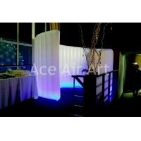 Quality hot sale inflatable curved wall tent with color changing led lights for party,meeting business wholesale
