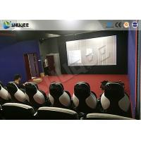 Quality 11D Movie Theater 11D Roller Coaster Simulator With Luxury Genuine Leather Seats wholesale