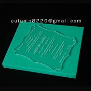 Quality acrylic wedding invitation card wholesale