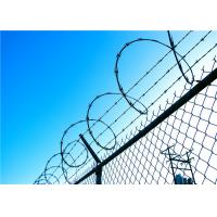 Quality Fencing Concertina High Security Razor Wire With Chain Link / Razor Blade Barbed Wire wholesale