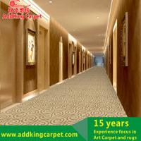 Cheap handmade acrylic loop pile hotel corridor carpet foshan carpet manufacturer for sale