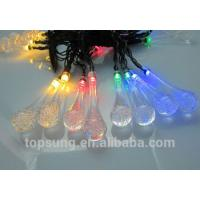 Quality flash led lights 5m 20leds solar water drop chiritsmas lights wholesale