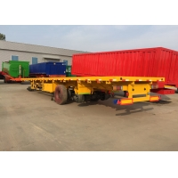 Buy cheap 500mm Beam Flat bed Full Trailer With Front Cargo Truck from wholesalers