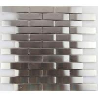 Quality 3d Arch Stainless Steel Mosaic Tile Backsplash , Stainless Steel Kitchen Tiles 8mm Thick wholesale