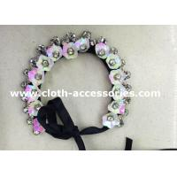 Wedding Rose Pink Handmade Beaded Necklaces 38G Floral Sequin Shape