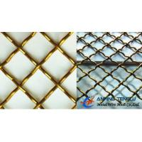 Quality Copper & Brass Crimped Wire Mesh, Used as Decorative Mesh in Building wholesale