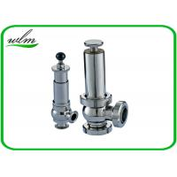 Quality Intelligent Sanitary Pressure Relief Valve For Pipeline System Protection wholesale