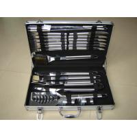 Quality 24pcs stainless steel handle BBQ tools in a case wholesale