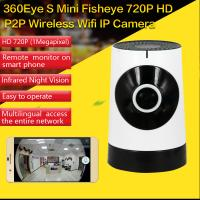 Quality EC5 720P Fisheye Panorama WIFI P2P IP Camera IR Night Vision CCTV DVR Wireless Remote Surveillance on iOS/Android App wholesale