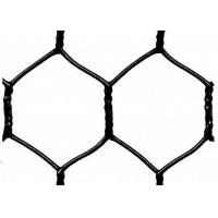 China Garden Fence Black Vinyl Coated Hexagonal Wire Netting With 20 Gauge , 1 woven mesh on sale