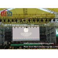 Quality Outside Concert Stage Light Truss , Spigot Arc Stage Lighting Frame Solid Structure wholesale