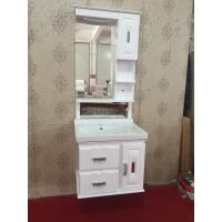 Quality Luxury Hung PVC Bathroom Cabinet / Single Bowl Bathroom Vanities wholesale