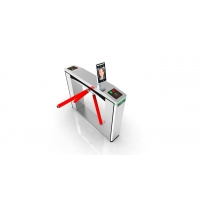 China Electronic Turnstile Wing Gates With LED Arrow Smart Speed Wing Gate Pedestrian on sale