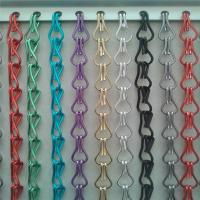 Quality Assorted Aluminum Double Hooks Chain Fly Screen Door Curtain wholesale