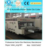 Cheap 380V Stable Carton Packing Machine With Die Cutter / Corrugated Case Flexo for sale