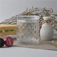 Quality Creative decorative glass candle holders with lid set , pattern design wholesale