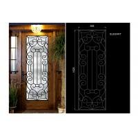 Quality Glass Lowes Wrought Iron Entry Doors And Glass Agon Filled 22*64 inch Size Durable wholesale