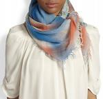 Quality Lady fashion scarf faded plaid-print scarf wholesale