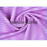 Quality Yarn Dyed 85 Polyester 15 Spandex Zigzag Pattern Textured Bathing Suit Fabric wholesale