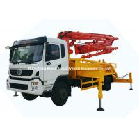 Quality 26m -31m Small Mobile Concrete Mixer Pump Truck With DFAC King Run Chassis wholesale