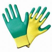 Quality Anti-oil Nitrile-dipped Safety Gloves with Polyester Shell wholesale