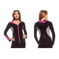 China 2013 Gym Hoody Jackets Tri - color Womens Fitness Wear Contrast Color Pocketing on sale