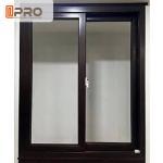 Quality Double - Layer Silent Aluminum Sliding Glass Windows Grey Color Commercial double glass aluminium sliding window wholesale