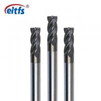 China Lathe Cutting Corner Radius End Mill , Diamond Coated End Mills For Aluminum on sale