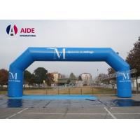 Quality PVC Blue Inflatable Entrance Arch Opening 6m Inflatable Run Through Tunnels wholesale