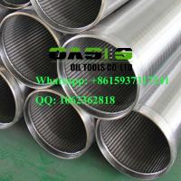 Buy cheap stainless steel Johnson screen pipe/Wire wrapped screen/wedge wire screen pipe for water well drilling product