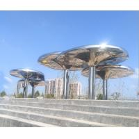 Quality 316L Stainless Steel Large Outdoor Garden Statues 3M height Abstract Style wholesale