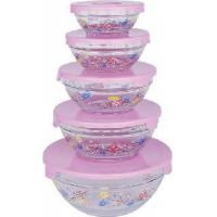 Quality Glass Storage Bowl Set with PP Lid wholesale