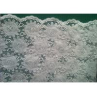 Quality 80cm organza Embroidered Lace Fabric Cotton for wedding dresses wholesale