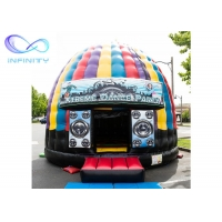 Quality 0.55mm  Pvc Tarpaulin Inflatable Disco Dome Bounce House wholesale