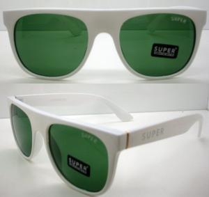 Quality AC / PC Green Lens Frames Sunglass , Modern Men Dark Glasses wholesale