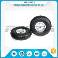 Quality Galvanized Color Pneumatic Rubber Wheels Steel Rim Ball Bearing 55mm Hub 3.50-4 wholesale