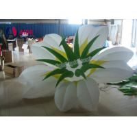 Quality 2.5m Gas Filled LED Flower Lights , Inflatable Yard Decorations For Party wholesale