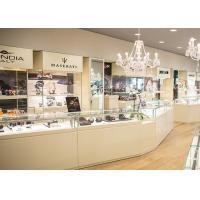 Quality Durable White Coating Custom Jewelry Display Cases / Retail Display Cases wholesale