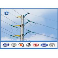 China 132KV steel tubular poles 8.0 Safety Factor , steel transmission poles BS EN 1011-2 Welding on sale