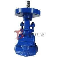 China Hardfaced Forged Alloy Steel Gate Valve BW 1500LB Bare Stem With ISO 5211 on sale