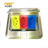 Quality Ground Silver Waterproof Pop Up Floor Outlet , CE Pass Rj45 Floor Socket wholesale