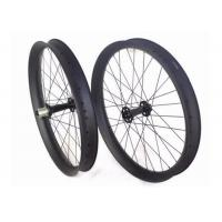 Quality Tri Spoke Tubeless Carbon Fat Bike Wheels Clincher Aero Roof Surface For Cycling wholesale