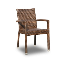 Quality Powder Coated Finish L52cm H87cm Rattan Outdoor Chair In Various Colors wholesale