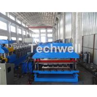 Quality 18 Forming Stations Roof Panel Roll Forming Machine , Double Sheet Roll Forming Machine wholesale