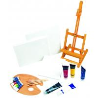 Quality 21pcs Art Painting Set With Table Easel / Palette / Canvas / Brushes / Colors wholesale