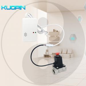 Quality Standalone Home Security Combustible Gas Leak Detector LPG Natural Gas Leak Sensor Connect Auto Shut Off Solenoid Valve wholesale