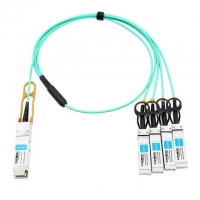 China Cisco QSFP-4X10G-AOC3M Compatible 3m (10ft) 40G QSFP+ to Four 10G SFP+ Active Optical Breakout Cable on sale