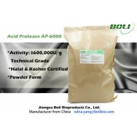 Quality 600000U / g Acid Protease , Light Brown Powder Microbial Proteases High Concentration wholesale